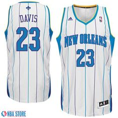 0cbb45f8a Anthony Davis New Orleans Hornets Revolution 30 Swingman White Jersey