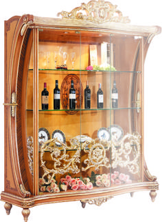 living room furniture-curio cabinet Luxury Home Furniture, Living Room Furniture, Wood Carving, Luxury Homes, Liquor Cabinet, Storage, House, Home Decor, Ideas