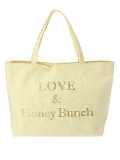 Honey Bunch、ロゴ箔プリントトートバッグ、4,410