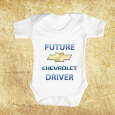 Future CHEVROLET Driver Brand New Baby Romper by FunnyBooShirts, $19.99