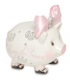 Mud Pie Always The Princess Piggy Bank #Dillards