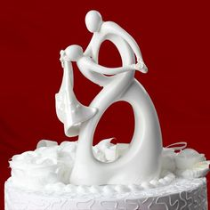 Dancing With You Bride & Groom Wedding Cake Toppers