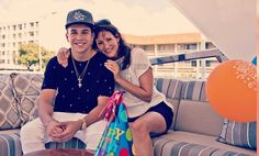 Austin and his mom on his birthday