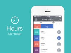 Hours iOS 7 by Christain Billings