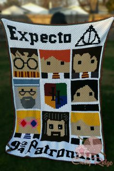 Harry Potter CAL - The Spells round it out and finish it off. Grab your FREE Banner patterns today. Join in on the fun and pick one of two designs for your banner. #craftyridge #crochet #harrypott...