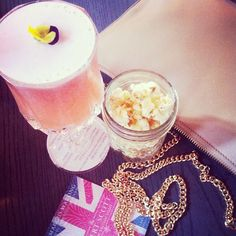 Rhubarb & Ginger Sour's go surprisingly well with pepper popcorn!
