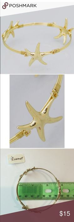 Starfish bracelet Retail. New in packaging. Measurements are shown in pictures Jewelry Bracelets