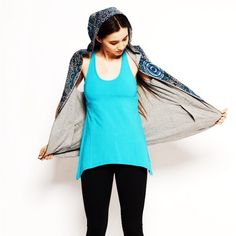 ⌛️LAST ONE! Satva Organic Reversible Hoodie, NWT This breakout brand rivals Lululemon and Prana for great quality and style!  This adorable sleeveless hoodie comes in blue sundial pattern with grey in the reverse side.  Looks great with jeans, skirts, yoga pants.  Wherever your day takes you, you'll reach for this cruelty-free, sustainable hoodie for all your casual days. Satva Tops Sweatshirts & Hoodies