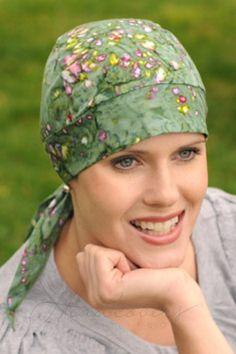 Cotton Batik Headwrap for Cancer Patients