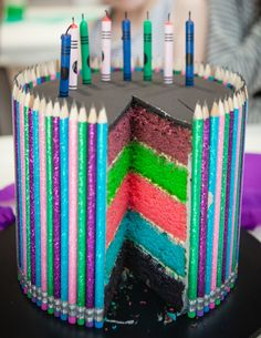 Smiggle themed stationary cake by Paper Candy