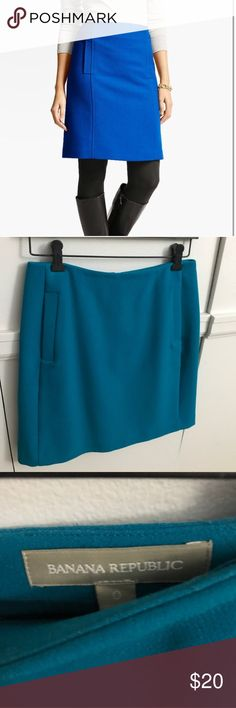 Banana Republic Skirt EUC. Blue a-line skirt from banana republic. First photo for styling only. Size 0. Banana Republic Skirts A-Line or Full