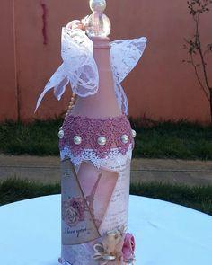 Garrafa decorativa Shabby Chic