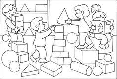 Výsledek obrázku pro kamarádi omalovánka Schools First, Color Shapes, Preschool, Diagram, Children, Image Search, Autumn, Drawings, Note Cards
