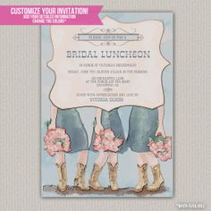 illustrated calligraphy bridal luncheon invitations bb shop