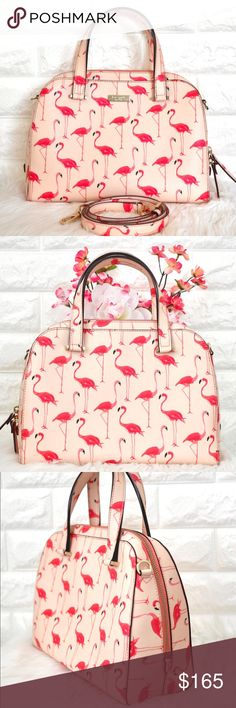 Kate Spade Newbury Lane Felix Flamingo LIKE NEW.  • No stains, rips or tears.   Color: Flamingo Printed in Pink Material: Crosshatched Leather  Dimension: 11.5L x 8.5H x 4.5W  • Price is firm. Sell only, No trades. Cheaper on Merc. kate spade Bags Satchels