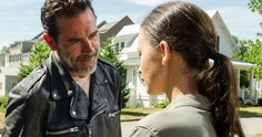 Walking Dead Episode 7.4 Recap: Negan Brings Service with a Smile -- The Saviors come to town and establish the new world order as Rick tells Michonne a long kept secret in the latest Walking Dead episode. -- http://tvweb.com/walking-dead-season-7-episode-4-service/