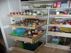 Unique Well Stocked Pantry