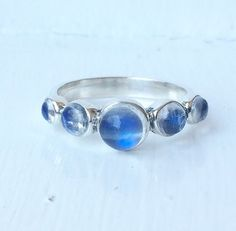 Image of Moonstone Eclipse Ring {Sterling Silver}