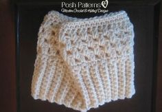 A free crochet boot cuffs pattern that is fun and easy. Perfect for beginners.