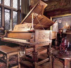 Original, custom-made Steinway piano in the Common Room at Salisbury House. Wow.