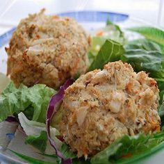 Crab Cakes Recipe with crab meat, crumbs, lemon juice, apple cider vinegar, onion powder, garlic powder, minced onion, minced garlic, cayenne, salt, black pepper