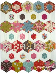 The Hexagon Quilt-A-Long Posts     flickr pool  block 1 & layouts    block 5    supply list & faq  block 2  block 6    button & particip...