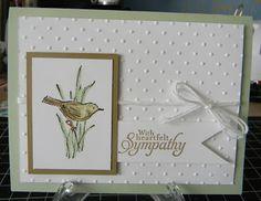 SU Simply Sketched(H) - pretty and simple sympathy card.