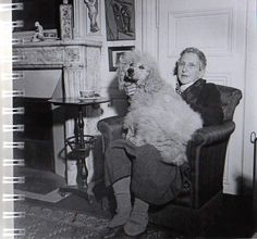 Gertrude Stein and her poodle Basket  Read Lectures on Art in America