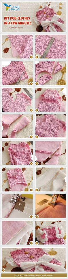 DIY Dog Clothes in a Few Minutes - 12 DIY Dog Clothes and Coats | How To Make Cute Outfits For Your Furry Pet by DIY Ready at http://diyready.com/diy-dog-clothes-and-coats/