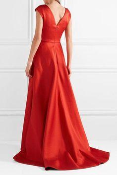 Jason Wu - Asymmetric Wrap-effect Taffeta Gown - Red