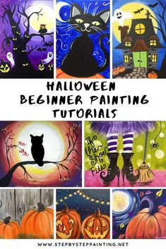 Gallery Of Halloween Paintings by Tracie Kiernan Click the image to be directed to the full online tutorial! You can also check out the Fall Gallery Here!