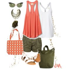Army Green or Tangerine?, created by jenniemitchell.polyvore.com