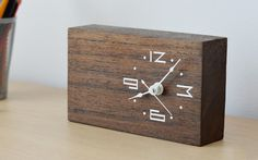 Woodtime: Simple, Modern & Minimal Bare Wood Clocks in Super Cool Gadgets