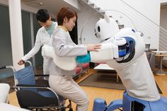 the 'robear' robot, created by RIKEN and sumitomo riko, has created a nursing care apparatus that aims to help japan's rapidly increasing elderly population
