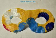 penso+invento+creo: Maschera di Carnevale in stoffa senza cucire con modello per bambini di 2-3 anni