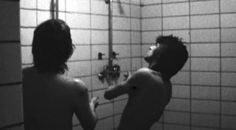 Mick and Keith having a shower. They're too sexy for their shirt… :P