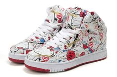 Reebok High Tops Hello Kitty PT-20 Travel Kitty Tennis Shoes : Cool High Tops Nikes Dunks Adidas Converse Cartoon Shoes, Cheap For Sale