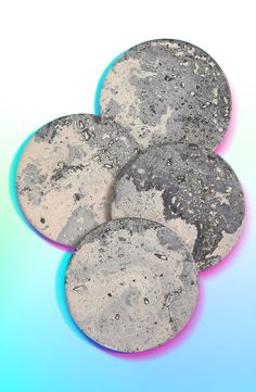 Moon coasters to jazz up your coffee table.