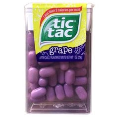 Do you like to eat tic tac? Tic Tac is a type of candy made by Michelle Ferrero. Tic Tac comes in many different flavors. The most popular flavors are orange, mint and spearmint.  Everyone loves to eat Tic Tac and it is the best candy ever. Kids of all sizes and adults buy Tic Tac. By Ashley 5C and Mavellyn.