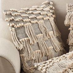 Hartwell Moroccan Wedding Blanket Fringe Cotton Throw Pillow