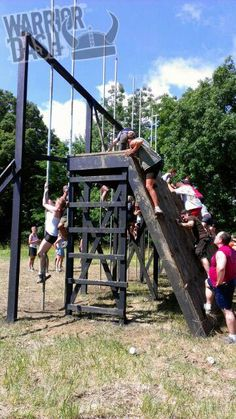 Warrior Dash ~ adult playground equipment. ;-)