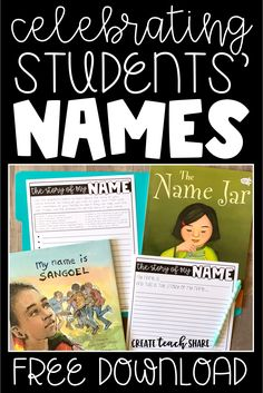"This back to school activity is a great way to get to know students during the first week of school, by learning, sharing, and celebrating student names. Students learn and share about their names by writing The ""story"" of their names. This activity is pe First Day Of School Activities, Name Activities, 1st Day Of School, Beginning Of The School Year, Writing Activities, Middle School, High School, 4th Grade Activities, Language Activities"