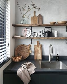 [New] The 10 Best Home Decor (with Pictures) - Ahşap raf detayı Decor, Kitchen Inspirations, Interior, Home Decor Bedroom, Happy New Home, Kitchen Decor, Decor Interior Design, Interior Styling, Rustic Kitchen