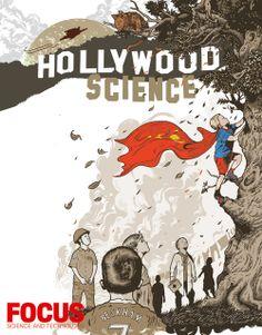 Focus February issue #264 'Hollywood Science: Man of Steel' Illustration: Tim McDonagh ©Focus Magazine
