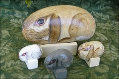 Picture of Gather Your Rocks... Rabbits on stone!