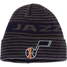 3218841e822 Utah Jazz adidas Authentic Team Cuffed Knit Hat - Navy -
