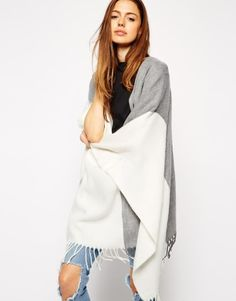 ASOS Cape In Color Block