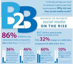 B2B Social Media on The Rise www.socialmediafrontiers.com