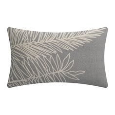 Discover the Vivaraise Palm Leaf Cushion - Thunderstorm - at Amara Luxury Cushions, Bed Cushions, Throw Pillows, Michael Howard, Thunderstorms, Gray Background, Leaf Prints, Leaf Design, Color Schemes