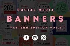Social Media Banner Pattern vol.1 by Zeus on @creativemarket